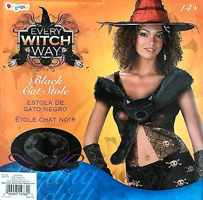 Every Witch Way Halloween Costume (EVERY WITCH WAY BLACK CAT STOLE WRAP HALLOWEEN COSTUME ACCESSORY ADULT ONE)