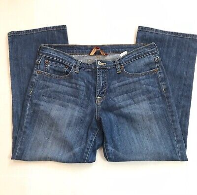 Womens Lucky Brand Easy Rider Crop Relaxed Fit Mid Rise Jeans Size 14 32 Easy Rider Crop