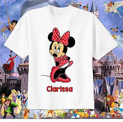 Minnie Mouse Custom T-shirt Personalize Birthday Short or Long Sleeve Tshirt - Minnie Mouse Custom