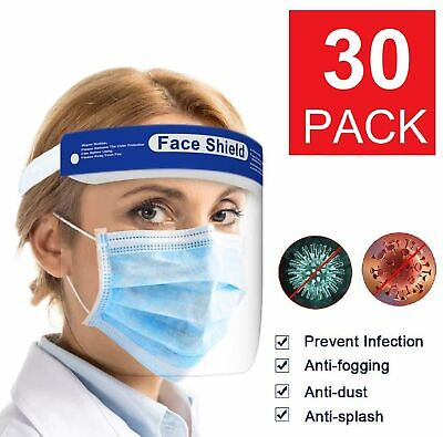 Safety Full Face Shield Reusable FaceShield Clear Washable Face Anti-Splash Clothing, Shoes & Accessories