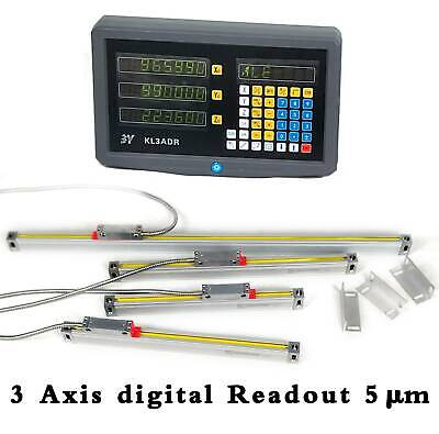 3 Axis Digital Readout Display For Milling Lathe Machine Linear Scales Encoder