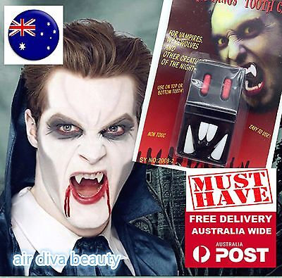 4PC Fancy Halloween Costume Party Zombie Vampire Wolf Fangs Tooth Cap blood - Wolf Fangs