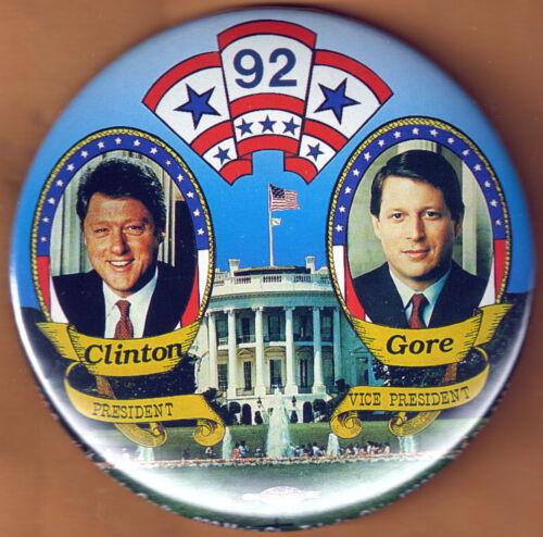 Bill Clinton Al Gore 1992 Campaign Button END JAN 12
