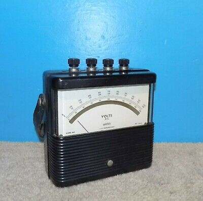 Weston Model 901 Dc Volt Meter 0-1000v 3 Scales Working Free Shipping