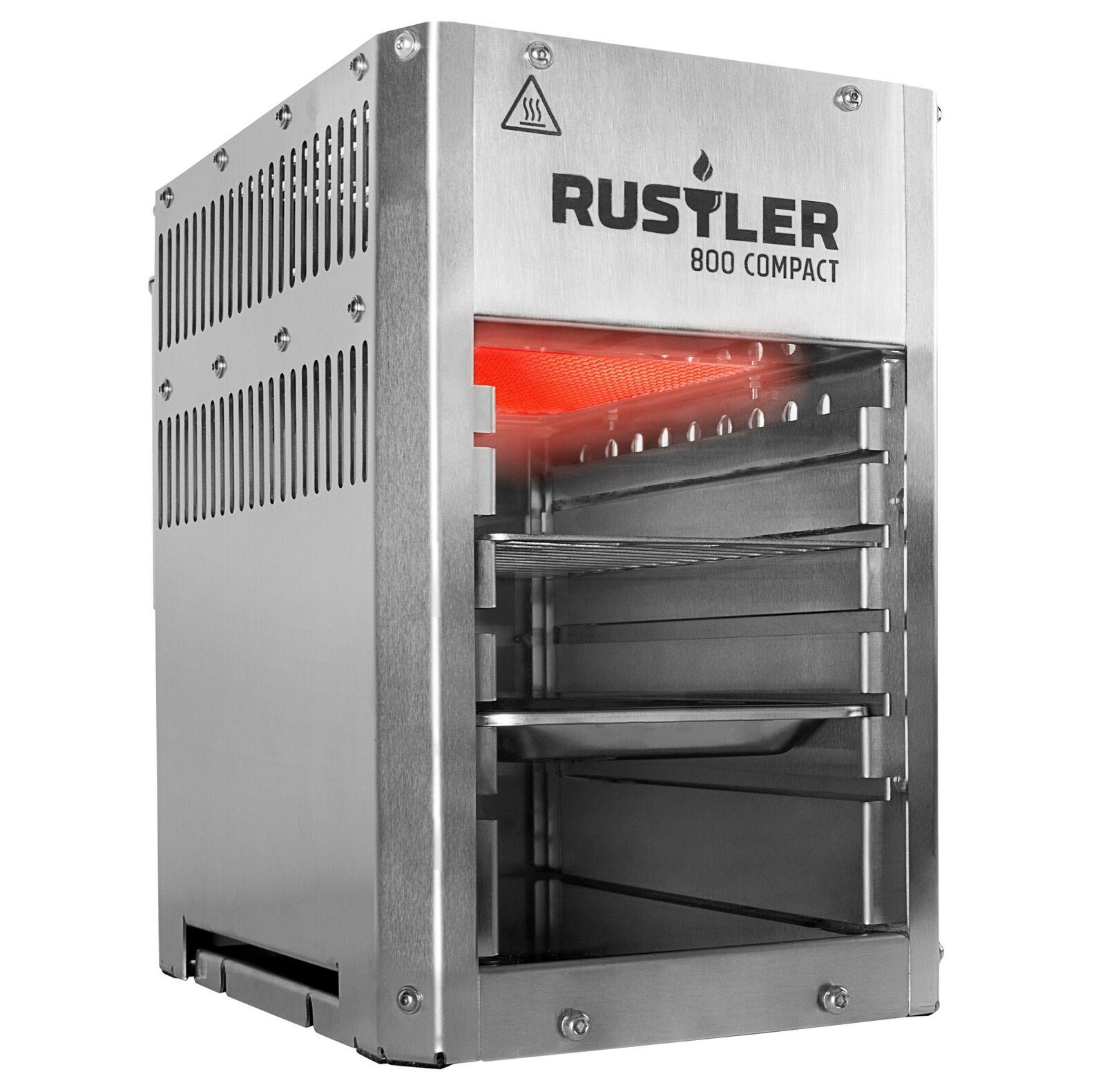 Rustler 800 Compact Oberhitze Gasgrill aus Edelstahl bis zu 800° C