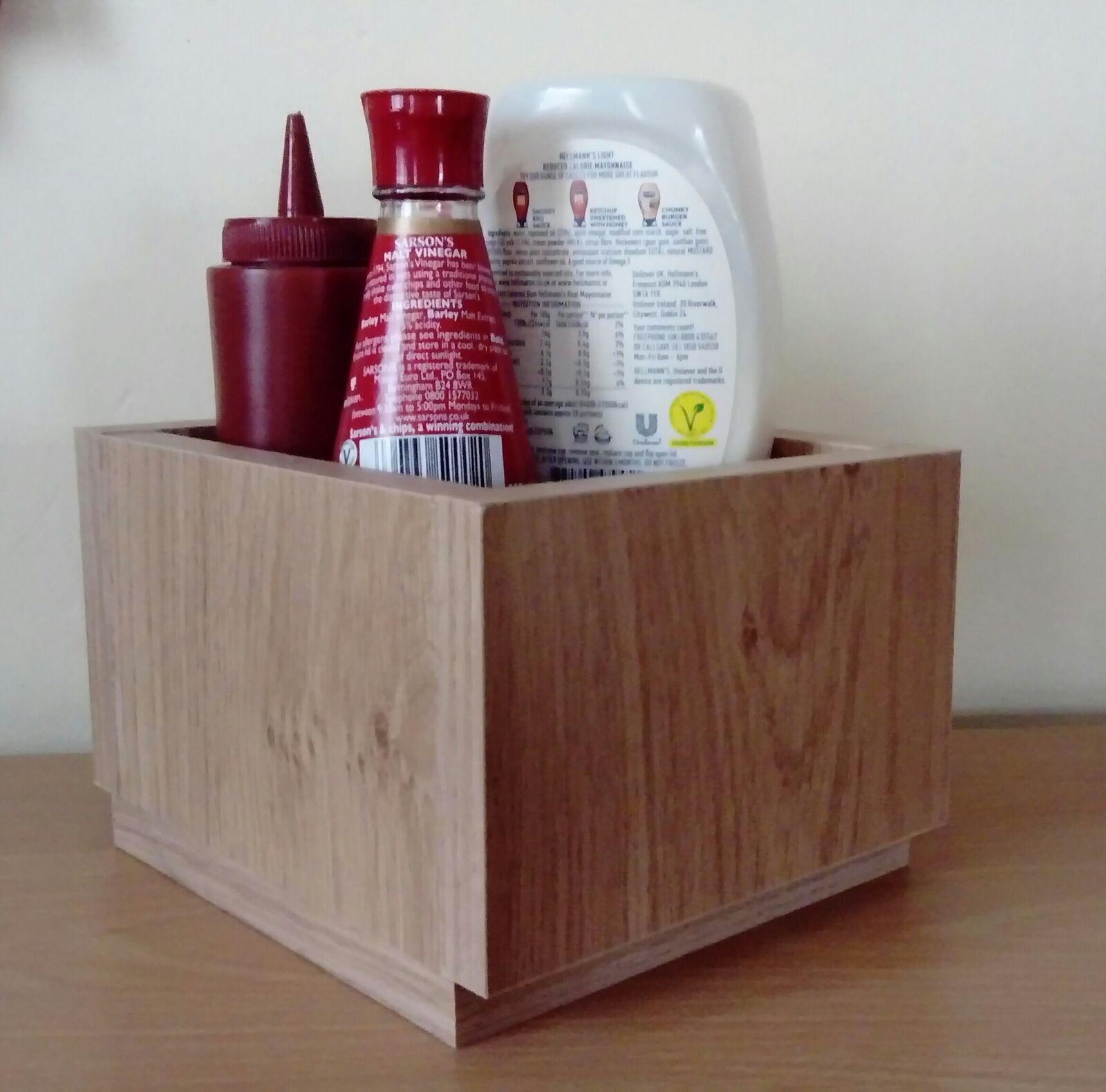 Wooden Menu & Condiment holders