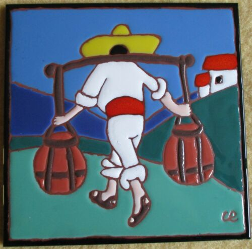 """Catalina Picture Tile San Jose 20s Repro single 8"""" tile NOW WITH FREE SHIPPING!!"""