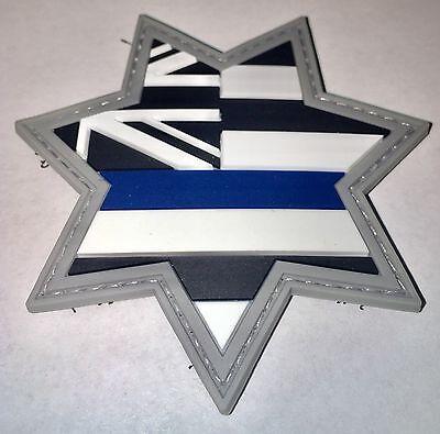 Hawaii Thin Blue Line Morale PVC Patch Sheriff