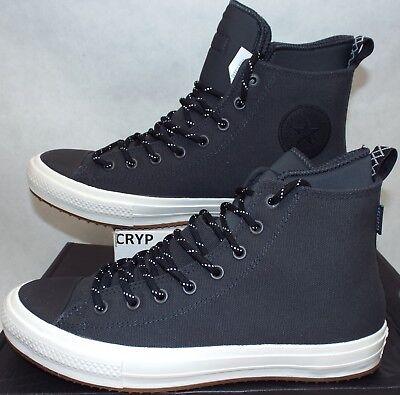 - New Mens 10.5 Converse CTAS 2 Boot Hi Dark Grey Canvas Shoes Boots $110 153568C
