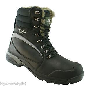 Alaska black s3 ci src composite toe cap cold work winter safety boots
