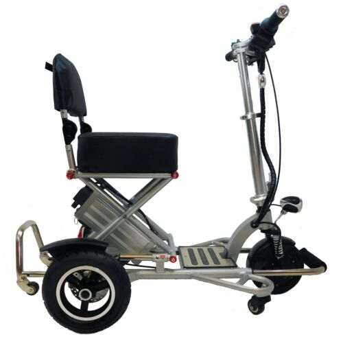 Silver Triaxe Sport Folding Scooter, 350 Cap, 12 Mph, 35 Miles Per Charge, Lite