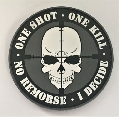 One Shot One Kill PVC Patch HookLoop Recon SEAL Special Forces Recon Airsoft 325
