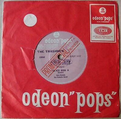 "THE TRASHMEN 7"" PROMO Surfin' Bird RARE SOUTHAMERICA Ed. 1967 33-rpm"