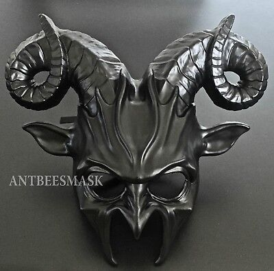 Halloween Masquerade Cosplay Party Deep Death Evil Animal Ram Costume Mask](Halloween Costumes Death)