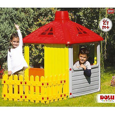 Childrens Wendy House Indoor Outdoor Playhouse Kids Summer Garden Fun Fence NEW