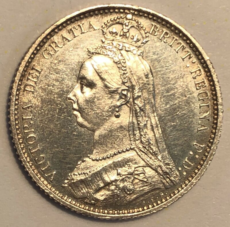 Great Britain 6 Pence. 1887. KM# 759.