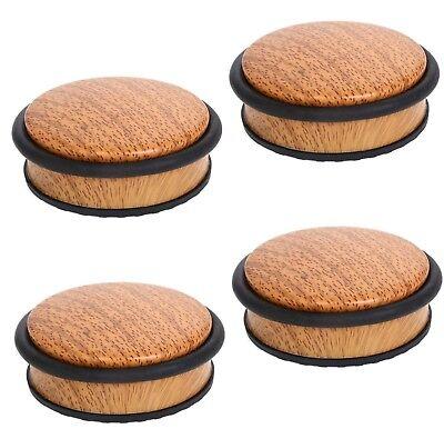 4 Türstopper Holz Bambus Türpuffer Türhalter Wand Schutz Boden Stopper 1,1KG Set ()