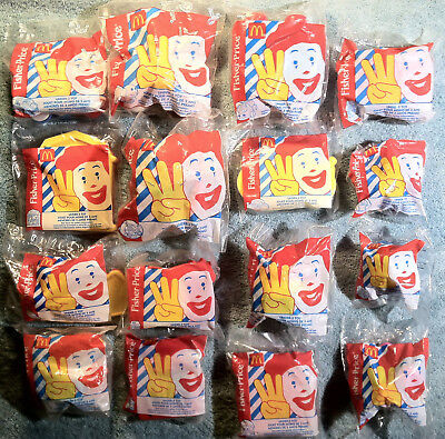 1996 McDonald's Happy Meal - FISHER PRICE UNDER 3 TOYS - Complete MINT Set of 16