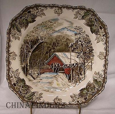 Johnson Brothers China Friendly Village Made In England Square Salad Plate 7 5 8