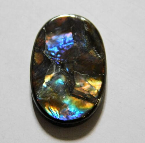 8.60 Cts Natural Canadian Ammolite Cabochon Loose Gemstone 21X13X3MM AR32