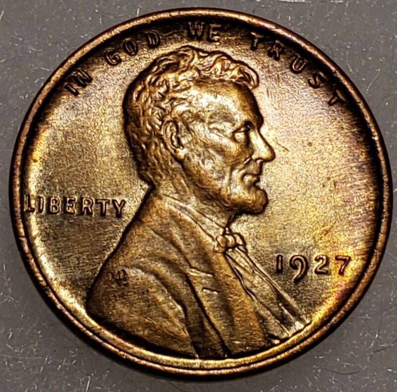 1927-P  UC.B.  Lincoln Wheat Cent Penny