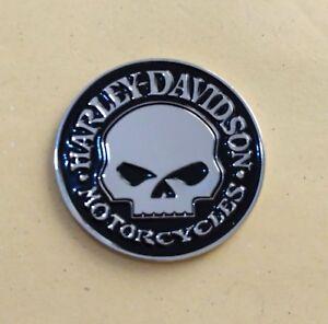 3D Metal Skull  Emblem / Medallion For Harley Davidson Tank / Body / Fender