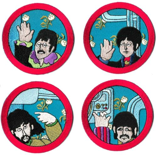 The Beatles Yellow Submarine Cartoon Port Hole Patch Set [UK Import] Memorabilia