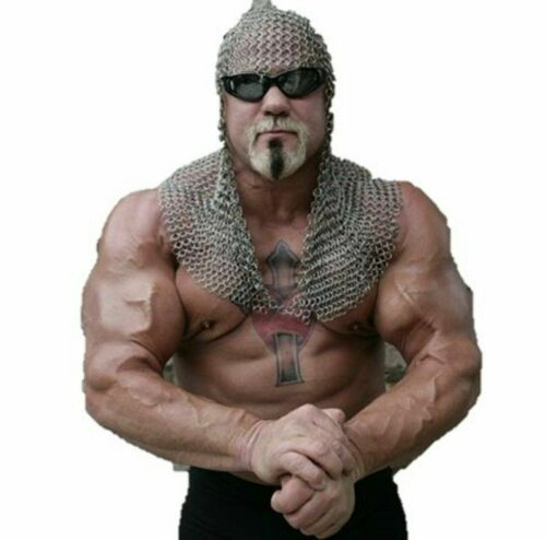 10 mm Chainmail Hood Aluminum Open Face Designed Coif for Photoshot