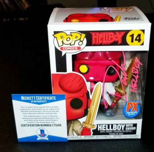 ! David Harbour Autographed Hellboy Sword Signed 14 Funko Pop Beckett JSA PSA !
