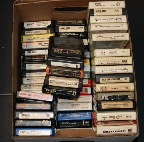 Classic Rock & Pop 8 Track Tape Cartridges Various artists REPAIRED + TESTED   A