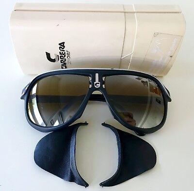 vintage CARRERA 5544 glacier sunglasses ski snow rare Austria 80s black
