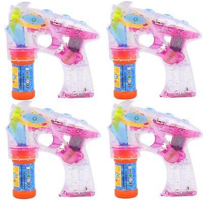 4 Seifenblasenpistole Seifenblasen Maschine Hochzeit Spielzeug Pistole LED