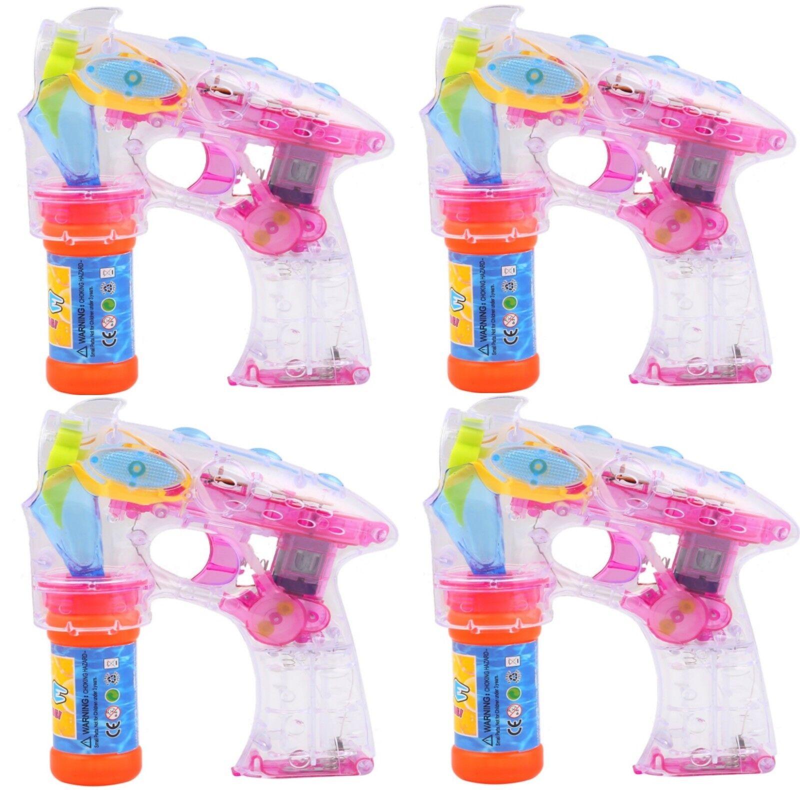 4 Seifenblasenpistole Seifenblasen Maschine Hochzeit Spielzeug Pistole LED Sound
