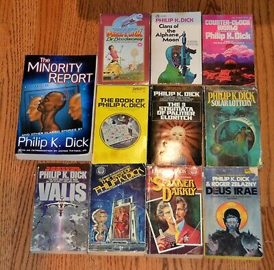 11 Philip K. Dick PB Book Lot PKD SciFI  Scanner Darkly Solar Lottery Bloodmoney