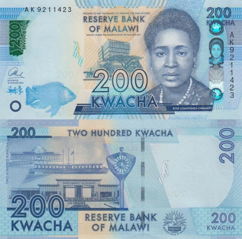 Malawi 200 Kwacha (1.1.2016) - p60c UNC
