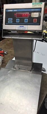 Doran Scales 8000m Digital Weight Indicator 10 X 10 Platform .