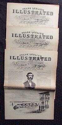 1861 Frank Leslie's Illustrated Newspaper Reissue LOT of 3 FN- 2/16 2/23 3/30