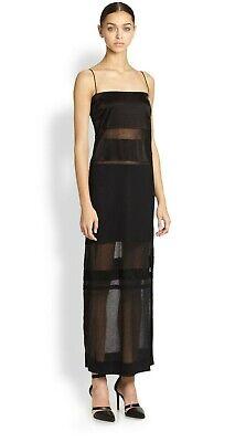 ❤️ NWOT $460 HELMUT LANG 'HORIZON' STRETCH BLACK LG DRESS~M/8-10~GORGEOUS ON!