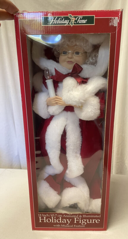 "Vintage 1999 Telco 18"" Mrs.Santa Claus Motionette Animated Christmas figure Wks!"