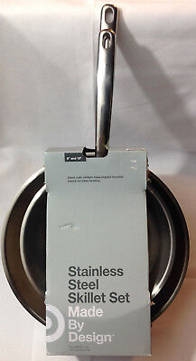 Made By Design Stainless Steel Skillet Set 8