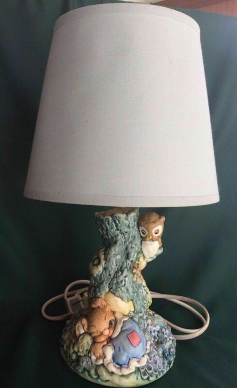 TINKERBELL NURSERY /BABY LAMP - PENDELFIN- SLEEPY HOLLOW -JOHN VALENTINE ARTWARE