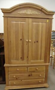 Broyhill Fontana Armoire, made in USA, solid pine