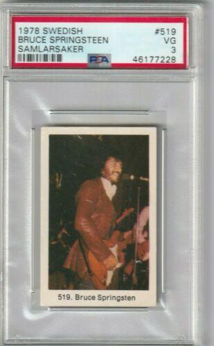 1978 Bruce Springsteen Rookie Card PSA 3  Swedish Samlarlarsaker # 519