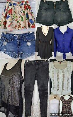 Womens Junior Teen Girls Sz XS-S-M BRAND NAME Clothes Mix Lot (10 PC)