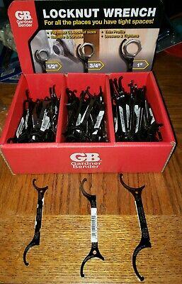 Nip Gardner Bender Locknut Wrench Kit Tool 12 34 1 Lock Nut