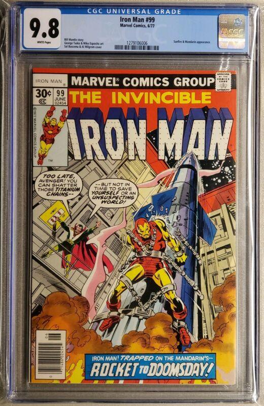 Iron man #99 cgc 9.8  White Pages Ironman