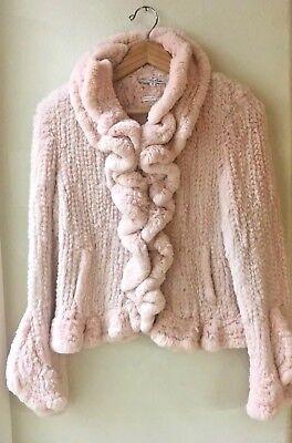 Lillie Rubin Women's Medium Pink Rabbit Fur Jacket  Mint