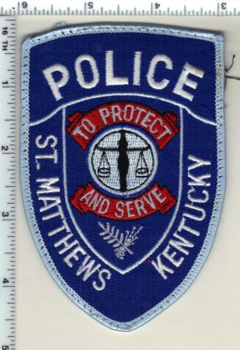 St. Matthews Police (Kentucky) uniform take-off patch - from the 1980