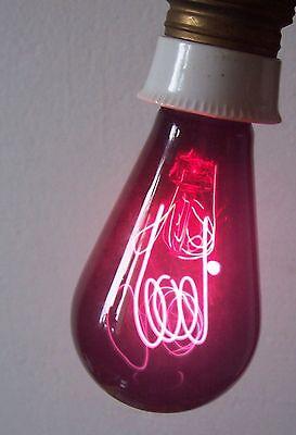Old Red Charcoal Thread Light Bulb E27 Heater Red Light Heilstrahler
