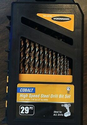 Free Drilling Set - Cobalt 29pc High Speed Steel Drill Bit Set ~ New! $37 (Free Shipping)